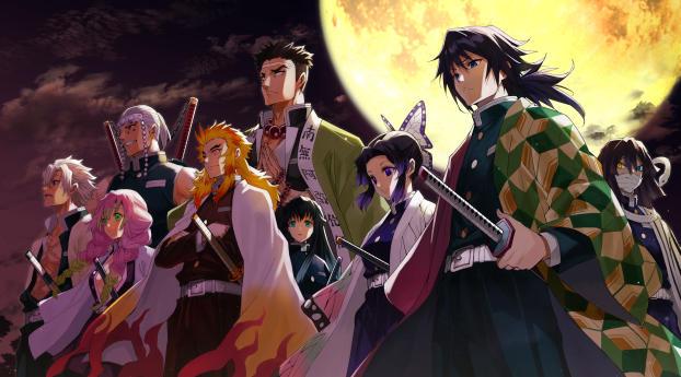 HD Wallpaper | Background Image Demon Slayer Kimetsu no Yaiba 4K Characters