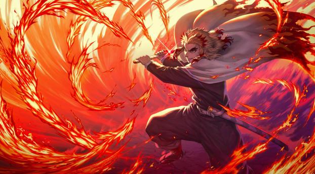 Demon Slayer Kimetsu no Yaiba The Movie Mugen Train Wallpaper 1920x1200 Resolution