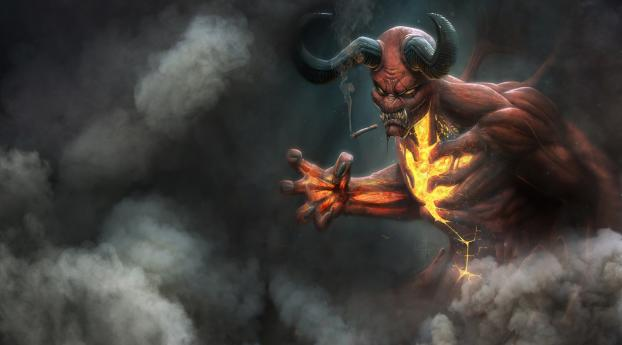HD Wallpaper | Background Image Demon Smoking