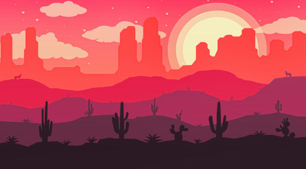 HD Wallpaper | Background Image Desert Vector Art