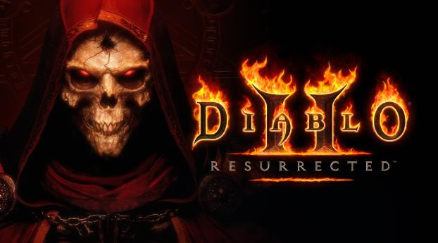 Diablo Resurrected Wallpaper in 1360x768 Resolution