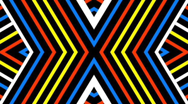 Diagonal Colorful Stripes Art Wallpaper