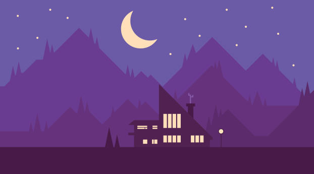 HD Wallpaper | Background Image Digital Home Night View illustration Art