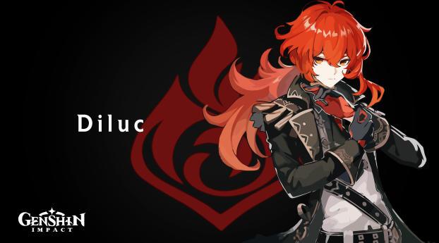 Diluc 4K Genshin Impact Wallpaper