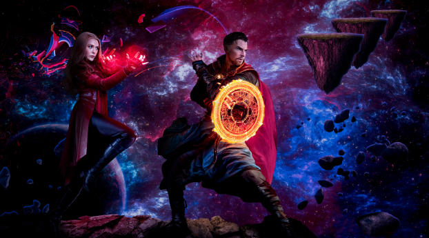 HD Wallpaper | Background Image Doctor Strange and Scarlet Witch Madness of multiverse Art