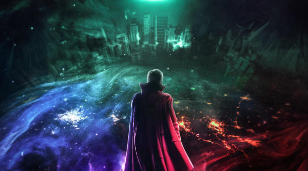 HD Wallpaper   Background Image Doctor Strange in the Multiverse of Madness Art