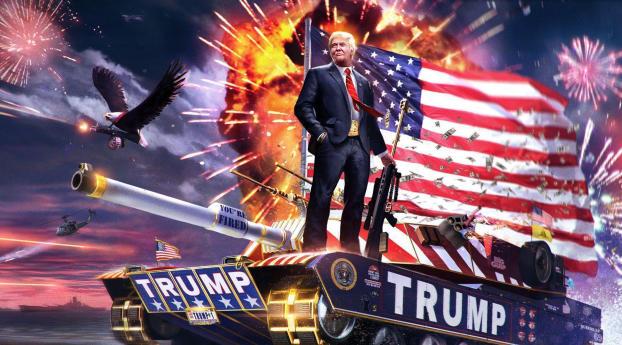 Donald Trump Make America Great Again Wallpaper 1440x2960 Resolution
