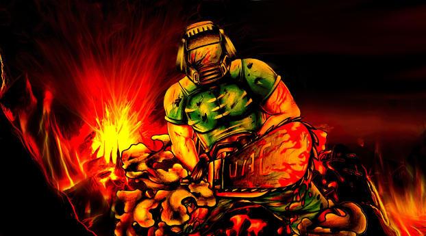 HD Wallpaper | Background Image Doomguy in Doom Game