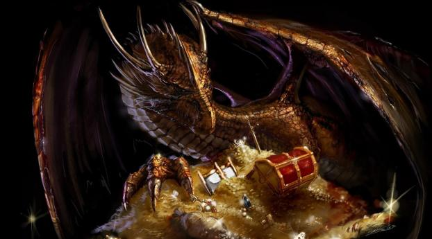 1242x2688 Dragon Treasure Gold Iphone Xs Max Wallpaper Hd Fantasy 4k Wallpapers Images Photos And Background