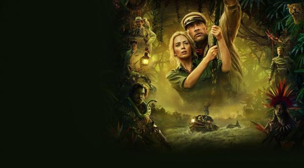 Dwayne Johnson & Emily Blunt in Jungle Cruise Wallpaper
