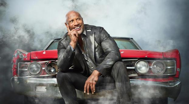 HD Wallpaper | Background Image Dwayne Johnson as Luke Hobbs In Fast & Furious