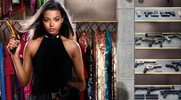 HD Wallpaper | Background Image Ella Balinska In Charlies Angels Movie 4K
