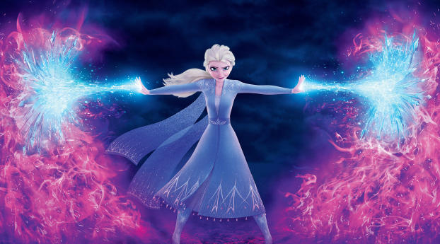 HD Wallpaper | Background Image Elsa Frozen 4K