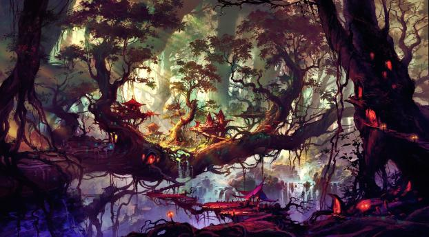 HD Wallpaper | Background Image Elven Forest