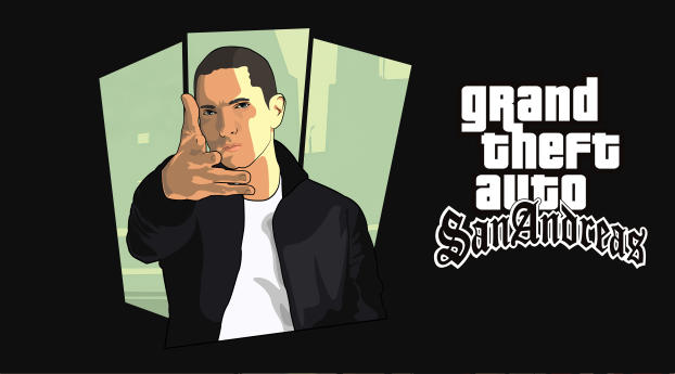 HD Wallpaper   Background Image Eminem GTA San Andreas Art
