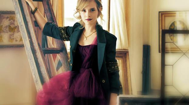 Emma Watson Black Suit Images Wallpaper 1920x1080 Resolution