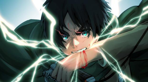 Eren Yeager Anime Art 4K Wallpaper