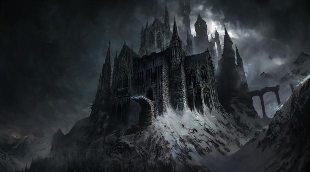 HD Wallpaper | Background Image Evil Castle Dark Fantasy