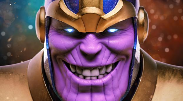 Evil Thanos Smile Wallpaper