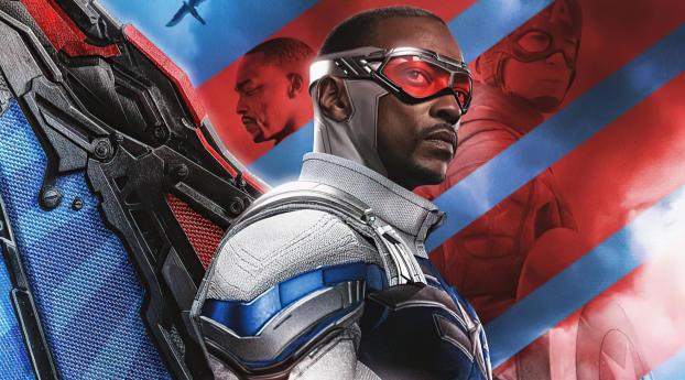 Falcon in Captain America Suit Wallpaper
