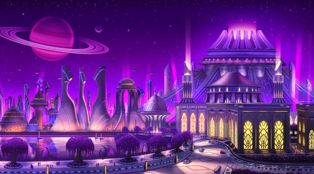 HD Wallpaper | Background Image Fantasy Ancient City
