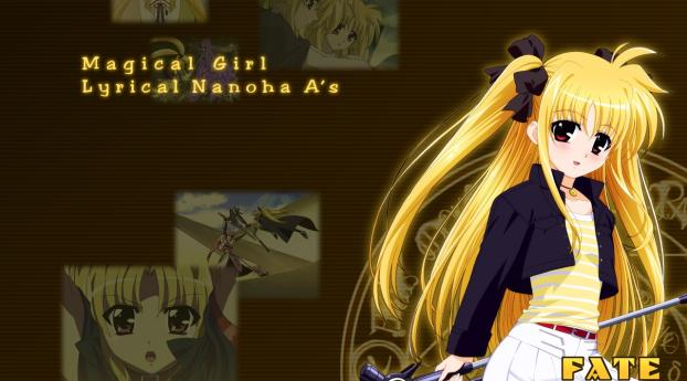 fate testarossa mahou shoujo, girl, blonde Wallpaper
