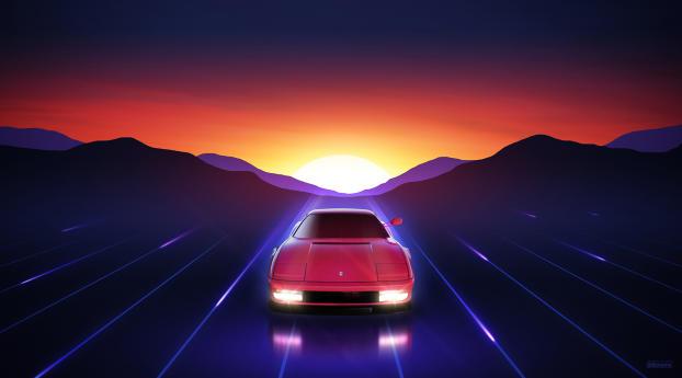 HD Wallpaper | Background Image Ferrari Testarossa Sunrise
