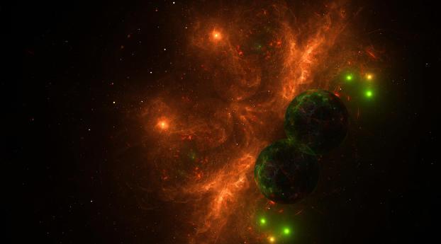 Fire Nebula Digital Wallpaper 2560x1600 Resolution