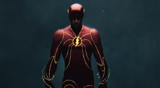 Flash Power Art Wallpaper 2160x3840 Resolution