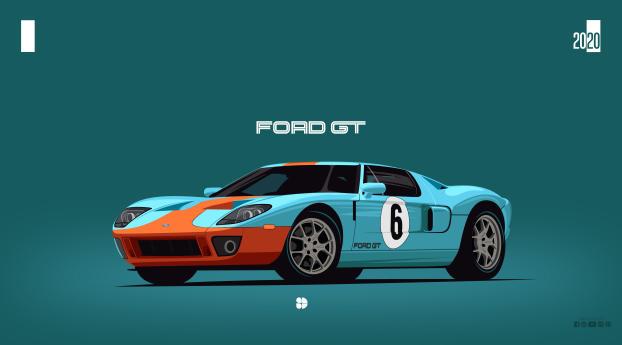 Ford GT40 Minimalist Wallpaper 1024x768 Resolution