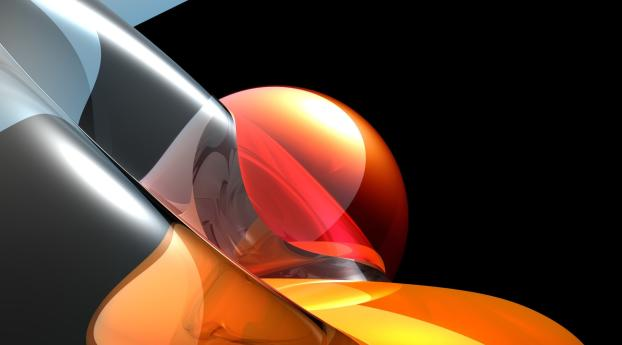 form, ball, orange Wallpaper in 2560x1440 Resolution