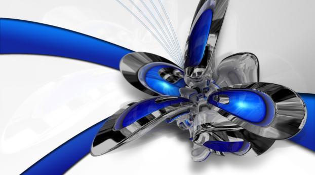 form, light, blue Wallpaper