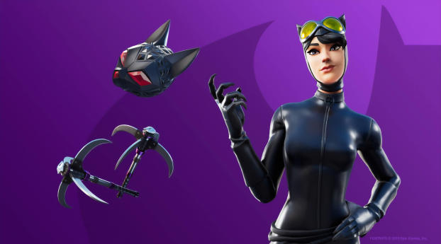 HD Wallpaper | Background Image Fortnite Catwoman