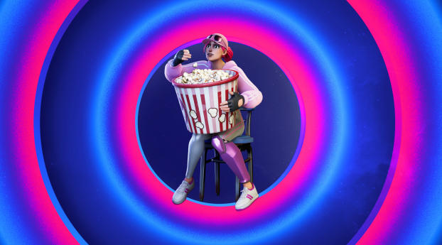 Fortnite Jumbo Popcorn Emote Wallpaper