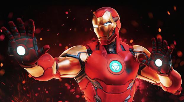 HD Wallpaper | Background Image Fortnite Marvels Iron Man