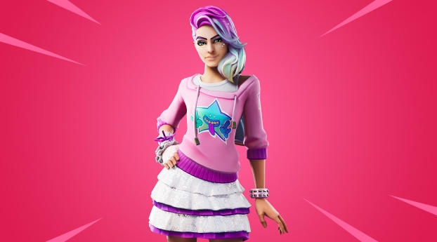 HD Wallpaper | Background Image Fortnite Starlie Outfit