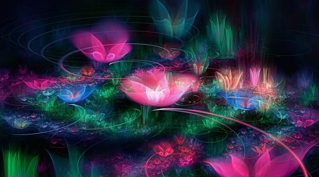 HD Wallpaper | Background Image fractal, flowers, space