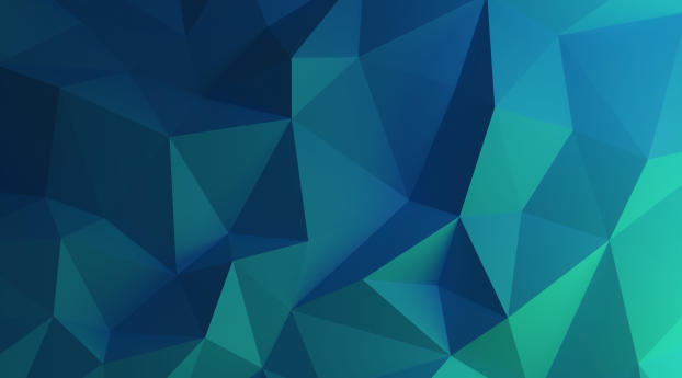 HD Wallpaper | Background Image Frosty Blue Polygon
