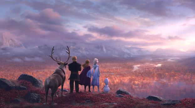 HD Wallpaper | Background Image Frozen II Banner