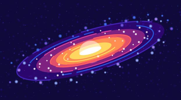 Galaxy Minimalist 4K Cool Wallpaper 750x1334 Resolution