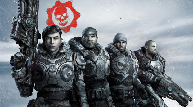 Gears 5 Game Wallpaper in 320x568 Resolution