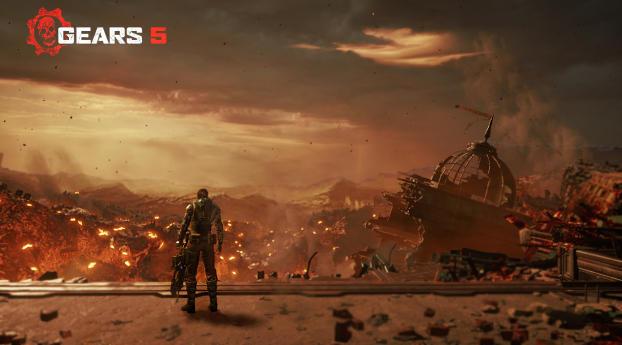 Gears 5 War Landscape Wallpaper