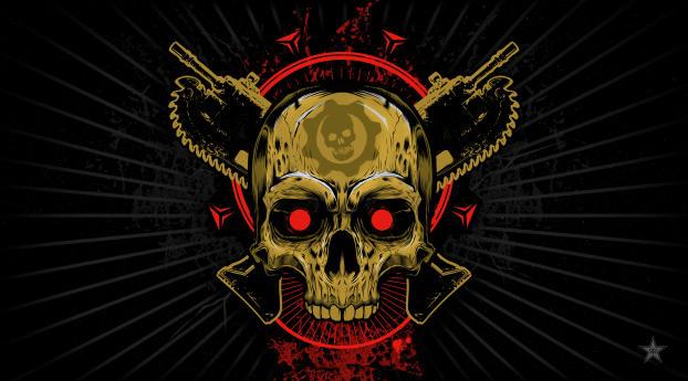 1440x2960 Gears Of War Skull Samsung Galaxy Note 98 S9s8