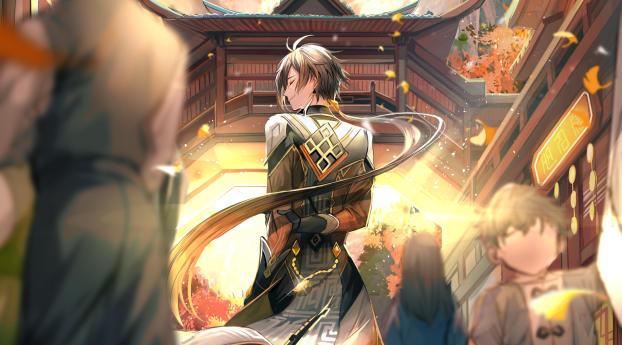 Genshin Impact Zhongli Portrait Wallpaper