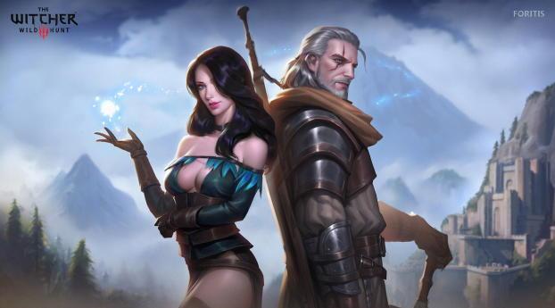 HD Wallpaper | Background Image Geralt & Yennefer The Witcher Fanart