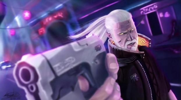 HD Wallpaper   Background Image Geralt Cyberpunk 2077