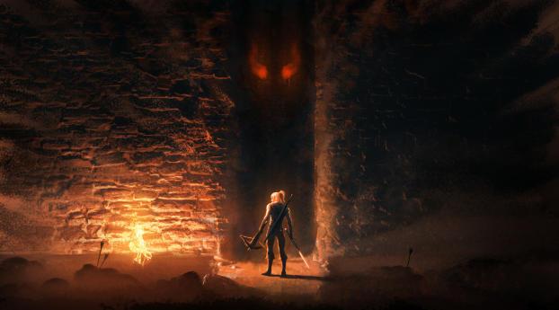 Geralt of Rivia 4K The Witcher Wallpaper