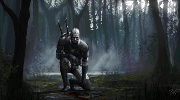 HD Wallpaper | Background Image Geralt Of Rivia Artwork