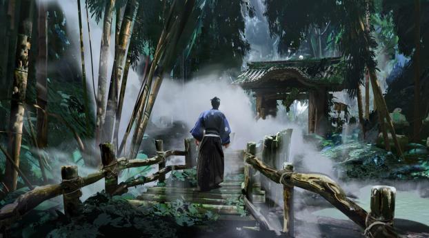 Ghost of Tsushima Jin Sakai Digital Art Wallpaper 2880x1800 Resolution