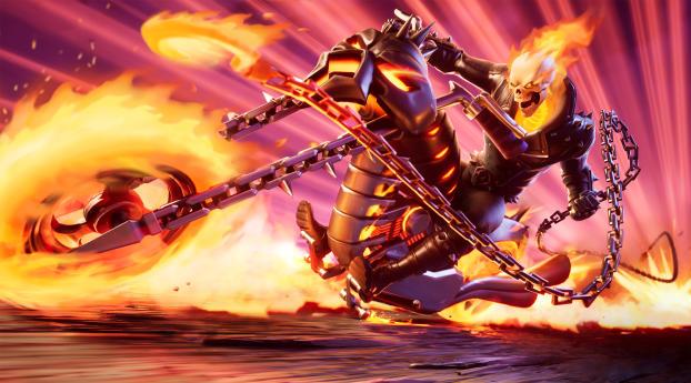 Ghost Rider 4K Fortnite Wallpaper